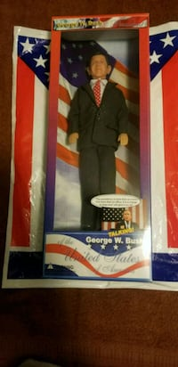 "Vintage President W. Bush Talking Doll 12"" NIB  25 km"