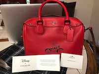 Coach Disney X Mickey Mouse Red Mini Satchel  Widefield, 80925