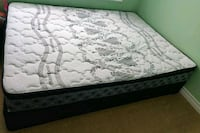 Queen pillow top Mattress, 5 years warranty, 3 months old Mississauga, L4Z 3L9