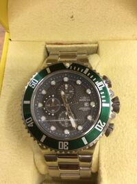 Invicta stainless steel watch with green bezel 200 meters water resist Baltimore, 21205