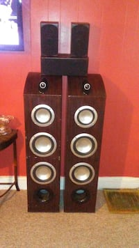 2-4 Foot Tower Speakers 400 Watts