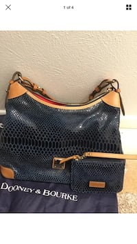 Blue dooney & bourke snakeskin bag and coin purse Houma, 70360