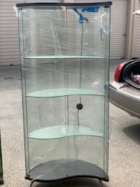 All glass display cabinets