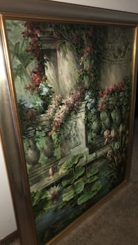 green and red flower painting Wauconda, 60084