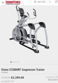Elliptical --mint condition.  Moved, so want to sell.  Brand: Vision Fitness Washington, 20007