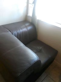 black leather padded sofa chair Modesto, 95355