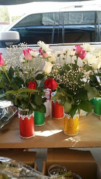 assorted artificial flowers