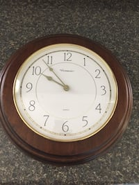 round brown wooden Westminster analog wall clock Port Colborne, L3K 2K4