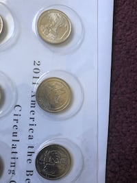 2011 America the beautiful Quarters coin set Los Angeles, 90031