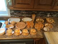 Lot of 35 pieces of vintage 1950's FIREKING peach lustre dishes South Frontenac, K0H