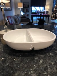 Crate and Barrel - Standard & Divided Serving Dishes (Set of Two) Arlington