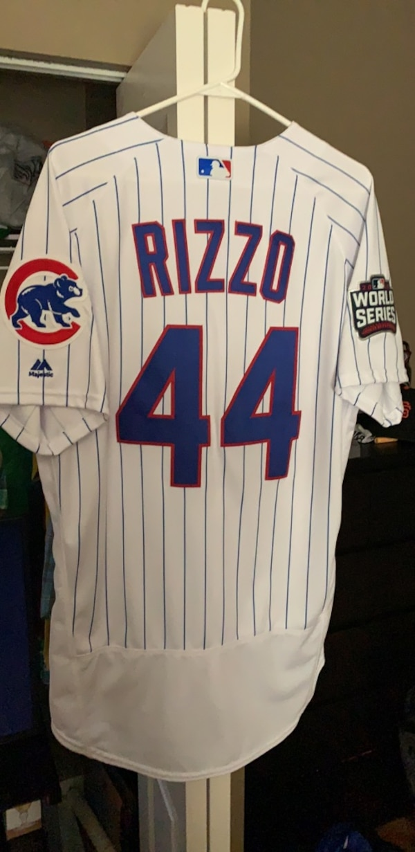 official photos 0b5c6 3b8df Chicago Cubs authentic world series Rizzo jersey