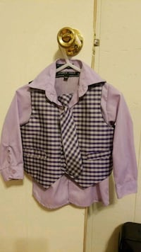12mo. Button up shirt, vest and tie.  1394 mi