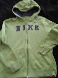 Lime green  and grey zipper goodie size xl teen