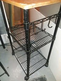 Utility Cart, small table, chair, bookcase, $15 -4