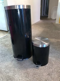Stainless Steel Trashcan set