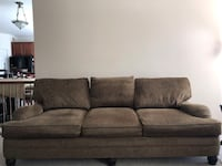 Brown fabric 3-seat sofa Dumfries, 22026