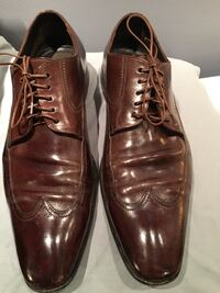 Hugo Boss brown leather men's dress shoes size 9/9.5