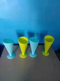 three yellow and one blue plastic cups Buffalo, 14211
