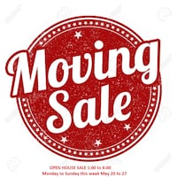 Come to my moving sale today until Sunday. 12 until 7 Cambridge