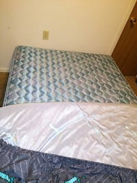 quilted white and blue floral mattress Edmond