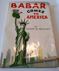 Babar Comes to America book 1965 Vintage Gaithersburg, 20886
