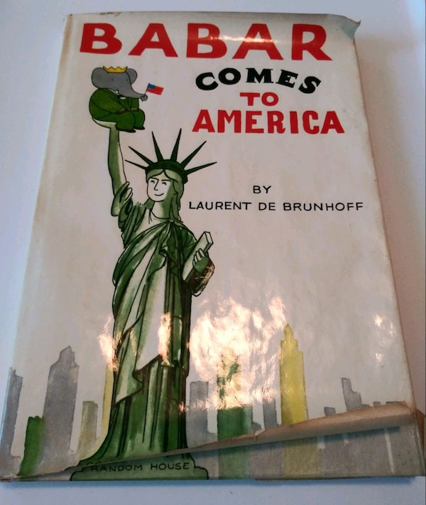 Babar Comes to America book 1965 Vintage