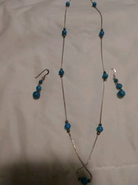 Turquoise necklace and earring set Woodbridge Township, 07095