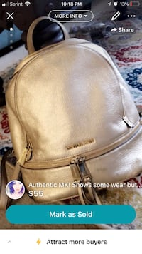 Women's brown leather backpack screenshot Lincoln, 68528