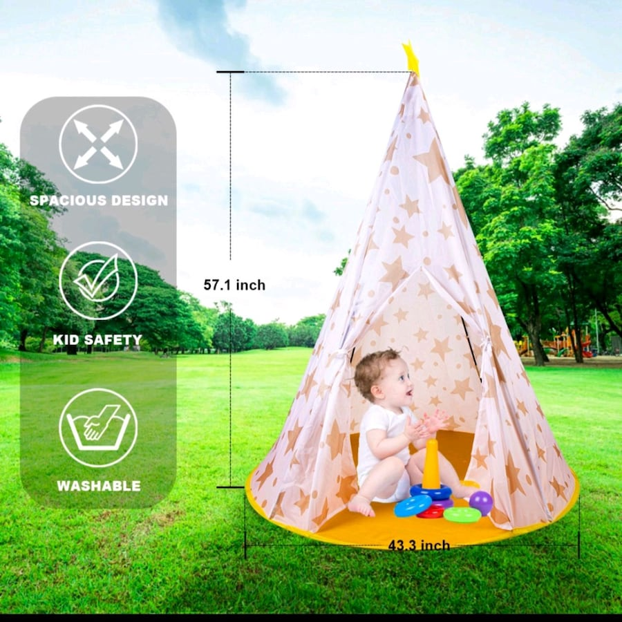 Kids popup tent - easy assembly- brand new