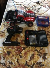 black and red RC car York, 17403