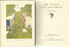 vintage 1930s Mr. Punch GOES MOTORING - from the New Punch Library, vo