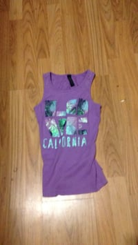 purple and green tank top