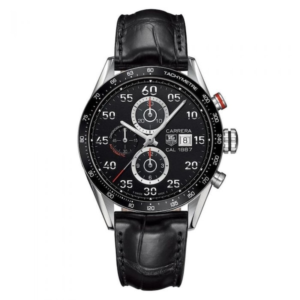 ebb0fdbf499de TAG HEUER Carrera Calibre 1887 Automatic Chronograph Black Dial Stainless  Steel Men s Watch CAR2A10FC6235