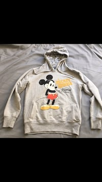 Grauer Mickey Mouse Pullover mit Kapuze Gießen, 35394