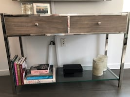Console table with glass shelf