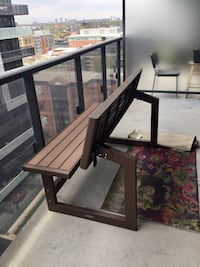 Patio bench - convertible table/bench