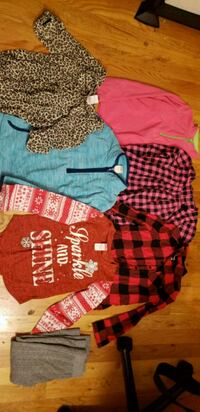 Girls Size 6 winter shirts and fleeces/flannel  Stephens City, 22655
