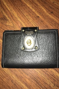 Coach leather wallet/checkbook