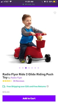Toddler's red and blue ride on toy Kyle, 78640