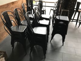 Stackable Metal Chairs x 22 - Great Condition