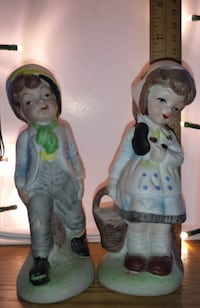 Have one to sell? Sell now Details about  Boy & Girl Statues, 5-1/2-Inch Clay City