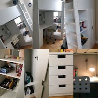 Loft bed with table, shelves and a closet all in one! Toronto, M2J