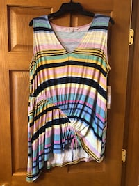 white, black, and green striped tank top Dearborn Heights, 48127