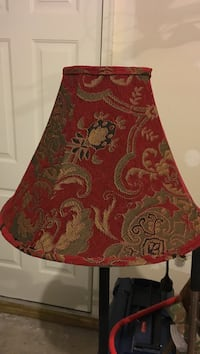 Red and grey floral-print lampshade Hanover, 21076