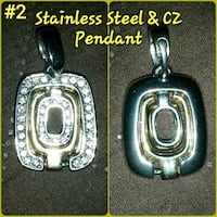 Stainless Steel CZ Pendant London, N5Y 3A6