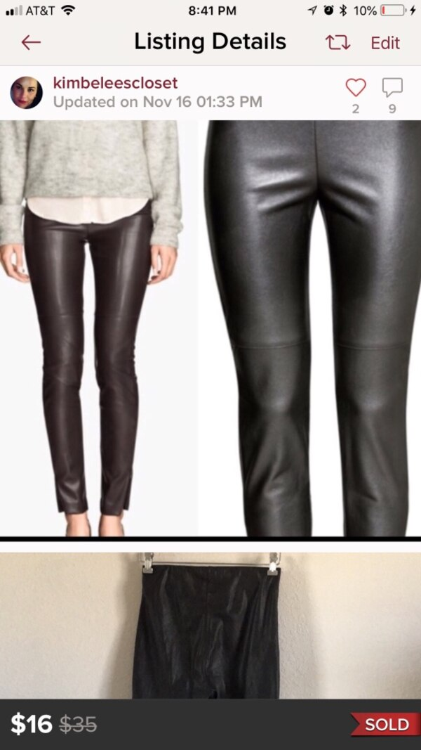 special buy buy popular exquisite craftsmanship Size 6 H and M vegan leather pants