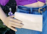 Vintage White Leather Wallet   Los Angeles, 91344