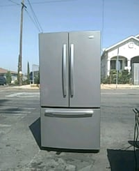 white and black french door refrigerator Los Angeles, 90063