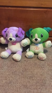 Two green and purple bear plush toys Syracuse, 13209